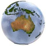 Australia on Earth Royalty Free Stock Photos