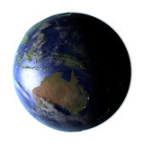 Australia on Earth isolated on white Royalty Free Stock Image