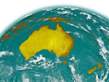 Australia on Earth Royalty Free Stock Image