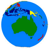 Australia on Earth political map Royalty Free Stock Photo