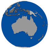 Australia on Earth political map Royalty Free Stock Image