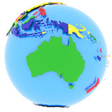 Australia on Earth Royalty Free Stock Photo