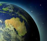 Australia from Earths orbit Stock Image