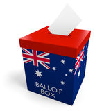 Australia election ballot box for collecting votes Stock Images