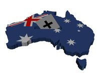 Australia election map flag Royalty Free Stock Photos