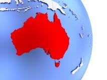 Australia on elegant modern 3D globe Royalty Free Stock Images