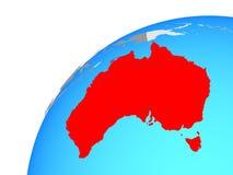 Australia en el globo stock de ilustración