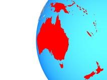 Australia en el globo ilustración del vector