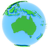 Australia en la tierra ilustración del vector