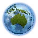 Australia en la tierra del planeta Imágenes de archivo libres de regalías