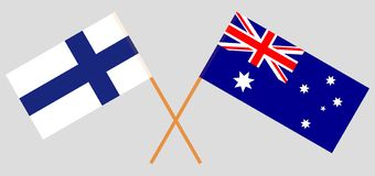 Australia and Finland. The Australian and Finnish flags. Official colors. Correct proportion. Vector. Illustrationn vector illustration