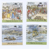 Australia First Fleet Stamps Stock Image