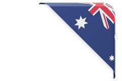 australia flagę Kąt, guzik, etykietka świadczenia 3 d Zdjęcie Stock