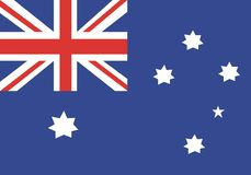 Australia flag. An illustration of australia flag Stock Photos