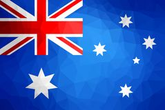 Australia Flag Abstract polygon background. Vector and illustration Stock Image
