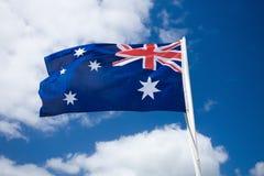 Australia flag against blue sky Royalty Free Stock Photos