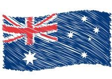 Australia flag art. Scribbled Australia flag art, vector vector illustration