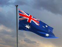Australia flag, Australian colors, 3d rendering, royalty free illustration