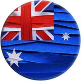 Australia flag or banner. Made with red ribbons Stock Illustration