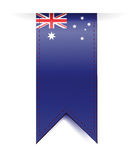 Australia flag banner illustration design Royalty Free Stock Photos