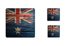 Australia Flag Buttons Royalty Free Stock Images