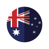 Australia flag color stars with shadow. Australian flag color stars with shadow  illustration eps 10 Royalty Free Illustration