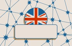 Australia flag design concept. Image relative to travel and politic themes. Empty field for text. Vector brochure or report design template. Connected lines Stock Images