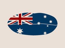 Australia flag design concept. Flag printed on woman lips. Image relative to travel and politic themes Royalty Free Stock Photos