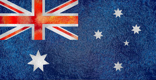 Australia flag design concept. Relief wet stone texture. Image relative to travel and politic themes Stock Photography