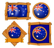Australia flag on different frame designs Royalty Free Stock Images