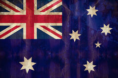 Australia flag in grunge effect Stock Photos