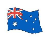 Australia flag in grunge style. Australian national banner.  Stock Photos
