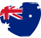 Australia flag in heart shape Royalty Free Stock Photography