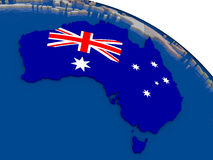 Australia with flag Stock Photos