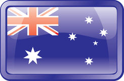 Australia Flag Icon. Australia Flag. Glass Style. Vector available Royalty Free Stock Photos