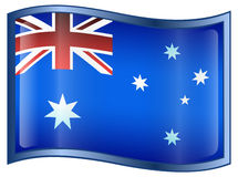 Australia Flag Icon Royalty Free Stock Image