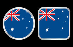 Australia flag icon Stock Photo