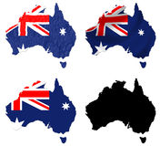 Australia flag over map collage Royalty Free Stock Image