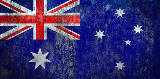 Australia Flag painted on a Wall. Ddistressed Painting of a Flag on an old Wall Royalty Free Stock Image