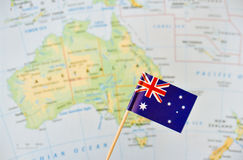 Australia flag pin Royalty Free Stock Images
