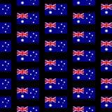 Australia flag seamless pattern Stock Photography
