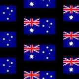 Australia flag seamless pattern Stock Photos