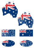 Australia flag set Stock Images