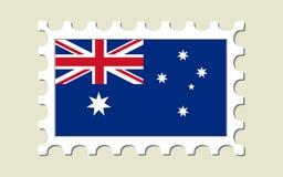 Australia Flag Stamp. Australia Flag Postage Stamp (Vector Royalty Free Stock Photos