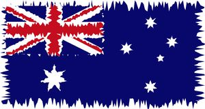 Australia flag stylized royalty free stock photos