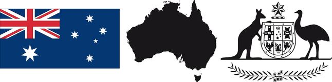 Australia Flag and symbol Stock Photography