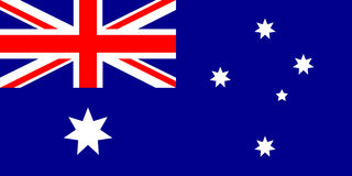 Australia flag, vector illustration Royalty Free Stock Image