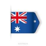 Australia flag vector ribbon Royalty Free Stock Photo