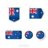Australia flag vector set Stock Image