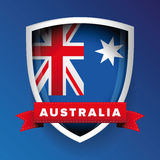 Australia flag vector shield Royalty Free Stock Image
